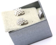 Silver Tone and Rhinestone Earrings New in Box Park Lane