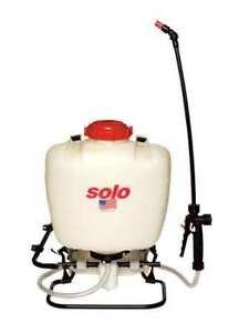 Solo 425 4 Gal. Backpack Sprayer, Polyethylene Tank, Cone, Fan, Jet Spray
