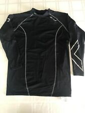 2XU Mens Large Base Layer Compression 3/4 Sleeve Athletic Top Black TS9