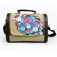 2017 Women's Fashion Canvas Sheep Pattern Handbag Cross Body  Bag Tote Purse