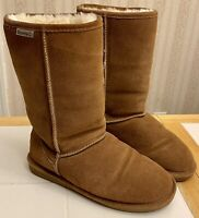 EUC! Bearpaw Suede Sheepskin Wool Womens Boots Brown Size 9 Emma Tall