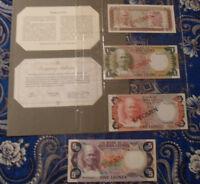 SIERRA LEONE COMPLETE 4 SPECIMEN 1978  000407 CS1 P4 - 7 UNC LOW SERIAL