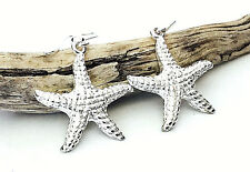 Sterling Silver Starfish Dangle Earrings - Gift Boxed