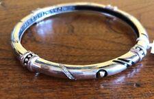 NWT Diamond JOHN ATENCIO Argon Sterling Silver 18 K Gold Bracelet JA Bangle New