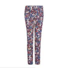 MANGO Pantalon cigarette imprimé floral Taille 34 NEUF