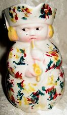 """Antique 1800's Spatter Sponge Toby Jug """"The Pipe Smoking Squire"""" England"""