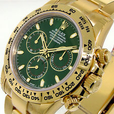 ROLEX 116508 DAYTONA YELLOW GOLD GREEN DIAL 116508