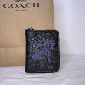 Coach (1869) Marvel Black Panther Med Zip Around Wallet NWT