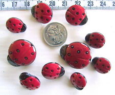 Novelty Buttons Scrapbooking Craft Lady Bugs Lady Birds Insects Sew Crafts  #253