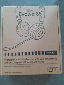 Casque Jabra Evolve 65 sans fil Bluetooth Stereo + Dongle Link 370