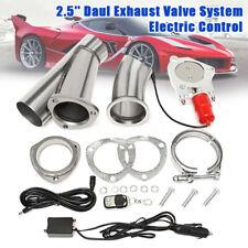 3'' 76mm Electric Exhaust Catback Downpipe Cutout E-Cut Valve Motor Remote AU