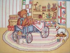 Grandma's Attic Teddy bears in wagon old toys   cross stitch kit Dimensions