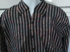 Equilibrio men's 2xl long sleeve casual dress shirt 2 designs amazing new nwot