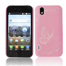Case in PVC Pink with Butterflies for LG P970 Optimus Black