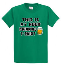 My Beer Drinking Printed Tee Shirt for Men in Big and Tall Sizes and Regular