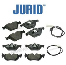For BMW E90 E91 328i 328xi Front & Rear Disc Brake Pads Jurid & Sensors KIT