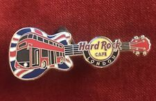 Hard Rock Cafe London Pin (Union Jack London Bus Guitar Pin)