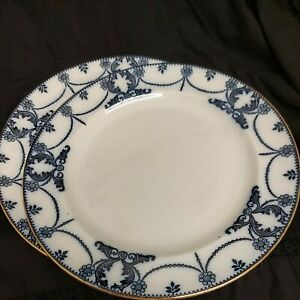 Thomas Till & Sons Venus Design Blue & White Dinner Plates x two 10 inches. ....