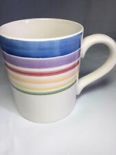 Gibson Candy Stripe Blue Purple Pink Yellow Green Coffee Tea Cup Mug
