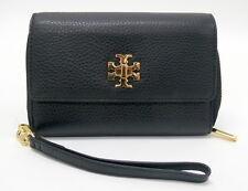11ef8bfdad35 Tory Burch Mercer Black Smartphone Case Bifold Wristlet Wallet Clutch 34036