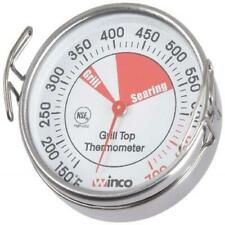 Winco Grill Surface Thermometer with Pot Clip, 2-1/4-Inch