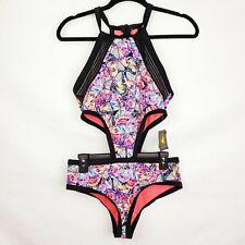 Body Glove High Neck Monokini Size L Millie Butterfly Print Fly Millie Swimsuit