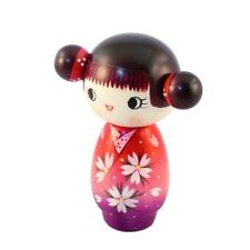 "A Creation Kokeshi doll ""Gokigen"" Cute girl design 13.5cm A490284"