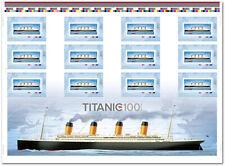 TITANIC = ERROR Uncut Sheet = MISSING COLOR DOTS / STARS Canada 2012 # 2535ii