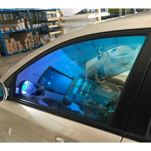 Blue&green Tint 55%VLT Color Changing Car Home Window Tint Shading Solar Film
