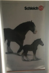 Schleich Display Hanging Banner Rare Horses Clydesdale Shire approx 140 X 70cm