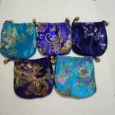 New 5 PCS Chinese Handmade Bag Coin Purse Gift Jewelry Mini Bags Pouches Blue
