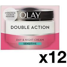 12 Olay Double Action Day & Night Moisturiser Cream Sensitive Hydrate Care 50ml