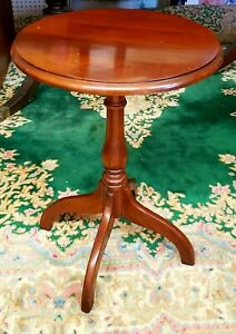 Harden Furniture Solid Cherry Round Circular Side Table