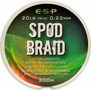 ESP Spod Braid Fluoro Green Braided Fishing Line