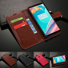 For OnePlus 6 5T 5 3T 3 2 One Magnetic Card Slots Wallet Flip Leather Case Cover