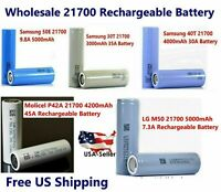 Wholesale Samsung 21700 Rechargeable High Drain Battery flat top - New