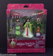 DISNEY Parks FIGURE FASHION Set MULAN Cake TOPPER Play SET In Box NEW