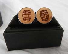 Jack Daniels Oak Barrel Cufflinks / Cuff Links in Gift Box - BNIB
