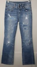 Women's Jeans Size 0 Factory Distressed Patched Light Wash Jeans By London Jeans