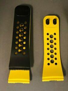 LifeTrak watch band - reversible, Color: Yellow & black. Material PU, SS052