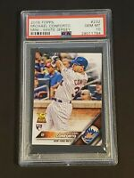 2016 Topps Mini Michael Conforto PSA 10 Rare POP 5 True RC Rookie On Fire!!!