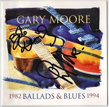 GARY MOORE Ballads & Blues - Bob Daisley Thin Lizzy Deep Purple Autograph SIGNED