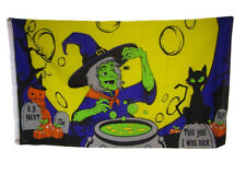 3x5 Happy Halloween Witch Witches Brew Full Moon Scary Flag 3'x5' Brass Grommets
