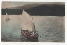 Japan Sail Boats Vintage Postcard 789b