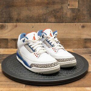 Nike Air Jordan Retro 3 True Blue 854262-106 Mens Athletic Shoes White Sz 8 2011