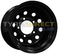 x4 16x10 ET-32 BLACK DEEP DISH MODULAR STEEL WHEELS LAND ROVER 5x165.1