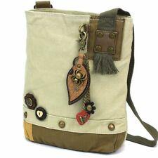 New Chala Patch Crossbody SPIDER Bag Canvas Messenger Sand Beige Halloween gift