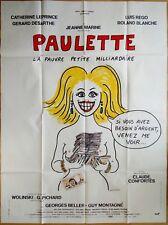 Georges WOLINSKI * 1986 * PAULETTE * Affiche Originale 120 x 160 cm