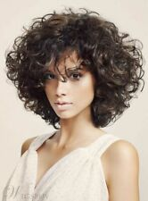 Natural Beautiful Short Dark Brown Women's Curly Synthetic Wig