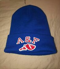 Abercrombie & Fitch Logo Patch Beanie Hat In Blue